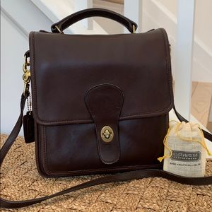 Vintage Coach 3144 turnlock flap leather crossbody